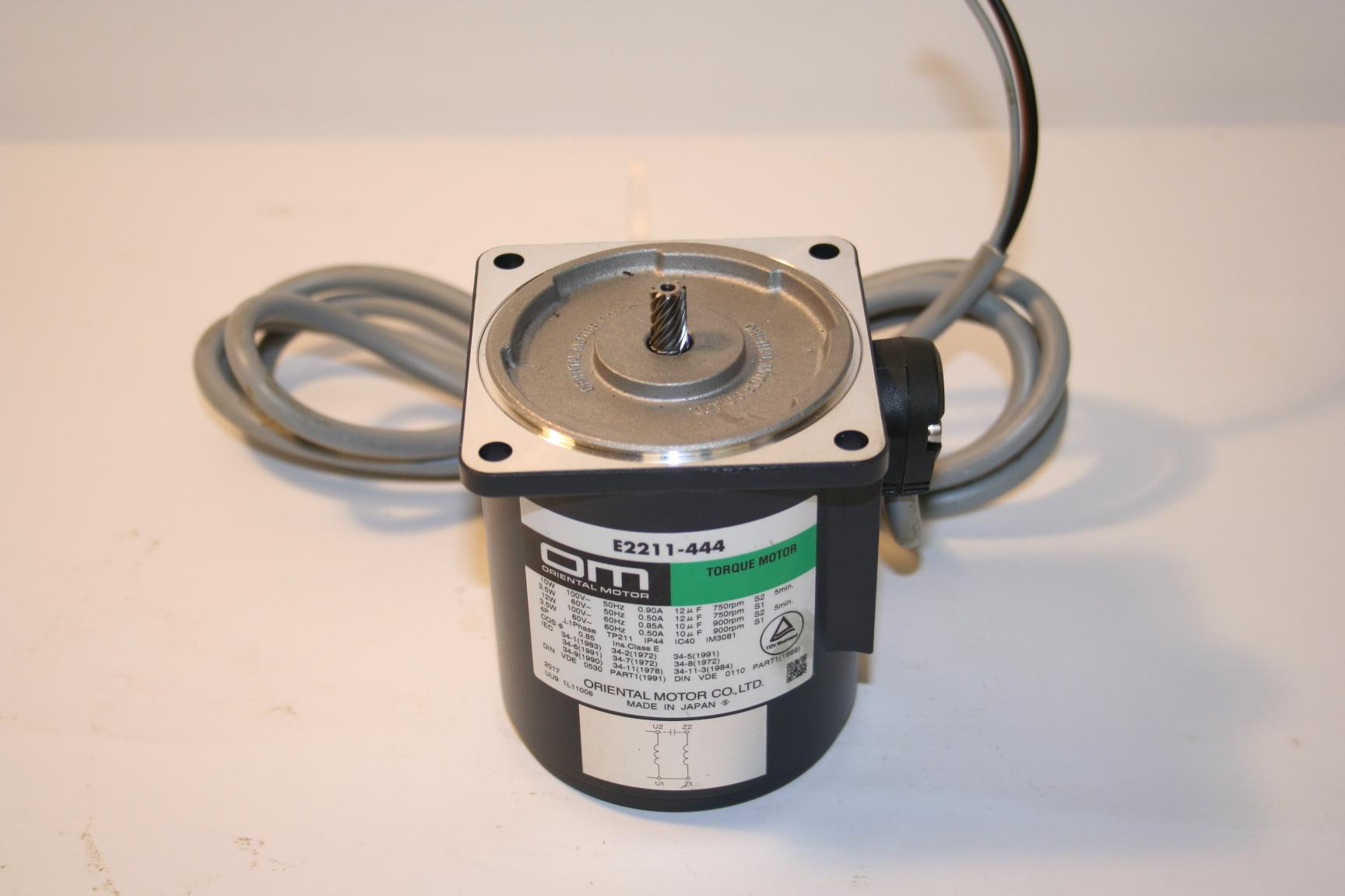 Mazak Tooleye Motor and Cables E2211- 444 view 3