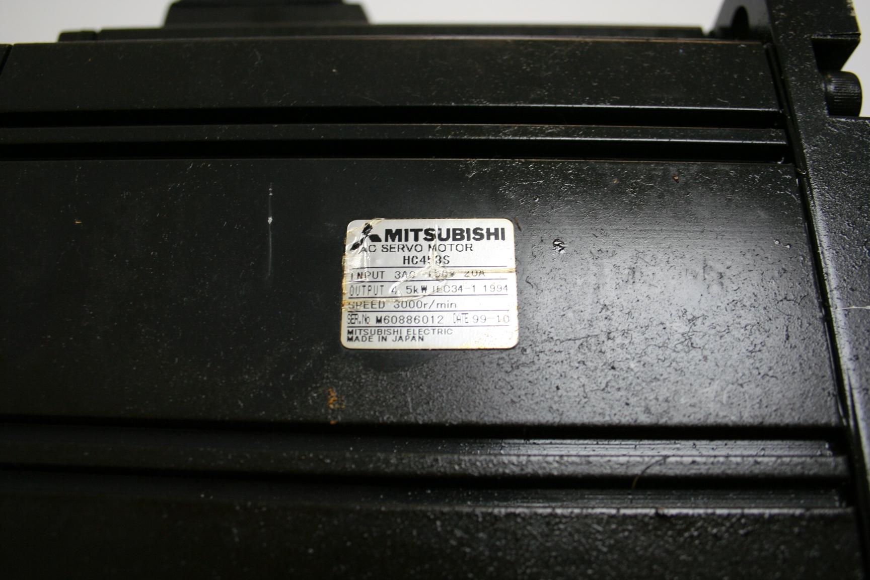 Mazak Mitsubishi HC453S Servo Motor and Encoder (OSE105S2) B