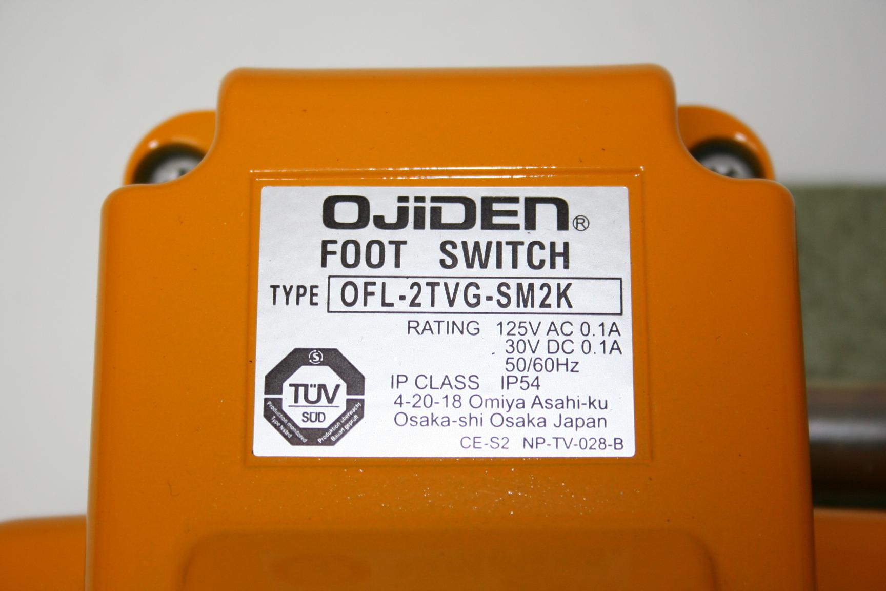 Ojiden Foot Switch  OFL-2TVG-SM2K 1